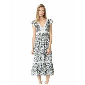 NWT La Vie Rebecca Taylor Suzette Floral Dress M